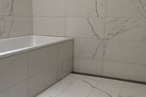 shower inset tiled